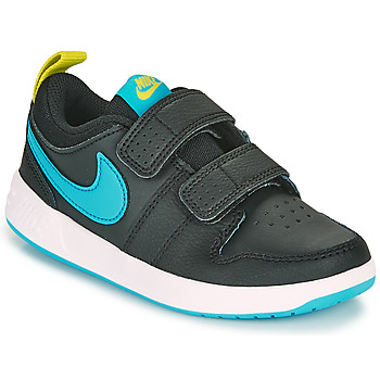Shoes Boy Low top trainers Nike PICO 5 PS Black / Blue