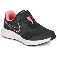 Shoes Girl Multisport shoes Nike STAR RUNNER 2 PS Black / Pink