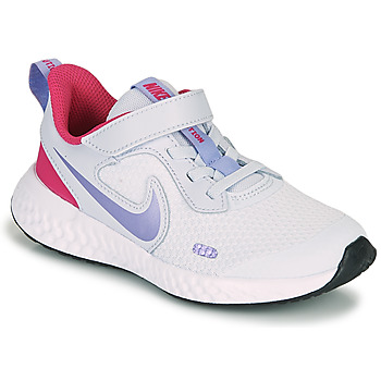 Shoes Girl Multisport shoes Nike REVOLUTION 5 PS Blue / Violet