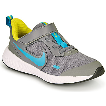 Shoes Boy Multisport shoes Nike REVOLUTION 5 PS Grey / Blue