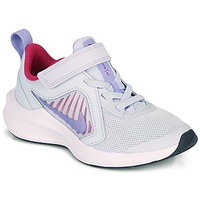 Shoes Girl Multisport shoes Nike DOWNSHIFTER 10 PS Blue / Violet