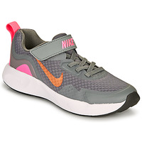 Shoes Girl Multisport shoes Nike WEARALLDAY PS Grey / Pink