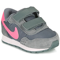 Shoes Girl Low top trainers Nike MD VALIANT TD Grey / Pink