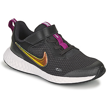 Shoes Girl Low top trainers Nike REVOLUTION 5 SE PS Black
