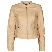 material Women Leather jackets / Imitation le Vero Moda VMLOVE Beige