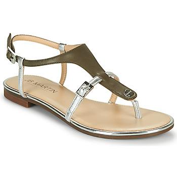 Shoes Girl Sandals JB Martin 2GAELIA Kaki / Silver