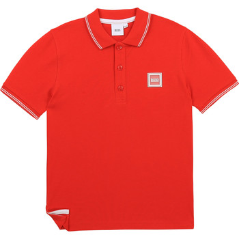 material Boy short-sleeved polo shirts BOSS J25L14-997-B Red
