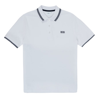 material Boy short-sleeved polo shirts BOSS TONNELA White