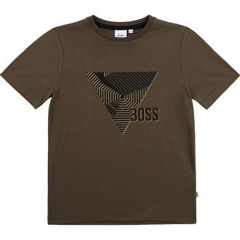 material Boy short-sleeved t-shirts BOSS J25L02-64C-C Kaki