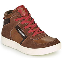 Shoes Boy High top trainers Redskins LAVAL KID Brown / Red