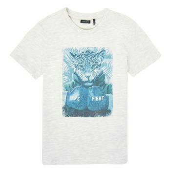 material Boy short-sleeved t-shirts Ikks XS10183-22-C White