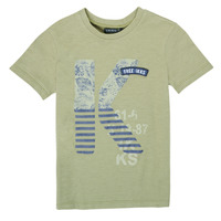material Boy short-sleeved t-shirts Ikks XS10163-51-C Kaki