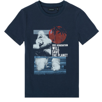 material Boy short-sleeved t-shirts Ikks XS10013-48-J Marine