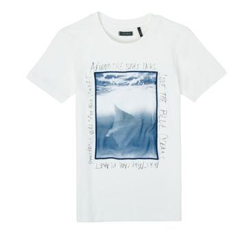 material Boy short-sleeved t-shirts Ikks XS10033-19-J White