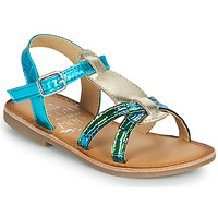 Shoes Girl Sandals Mod'8 CALICOT Turquoise / Gold