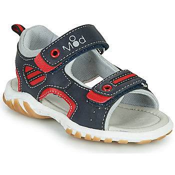 Shoes Boy Sandals Mod'8 TOPPY Marine / Red