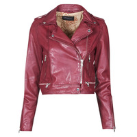 material Women Leather jackets / Imitation le Oakwood KYOTO Bordeaux
