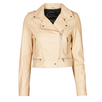 material Women Leather jackets / Imitation le Oakwood YOKO Cream