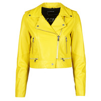 material Women Leather jackets / Imitation le Oakwood YOKO Yellow