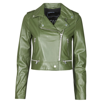 material Women Leather jackets / Imitation le Oakwood YOKO Kaki