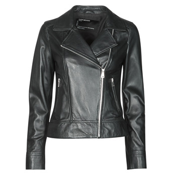 material Women Leather jackets / Imitation le Oakwood MARJORY Black