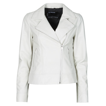 material Women Leather jackets / Imitation le Oakwood MARJORY White