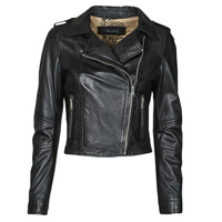 material Women Leather jackets / Imitation le Oakwood ALIZEE Black