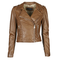 material Women Leather jackets / Imitation le Oakwood ALIZEE Cognac
