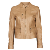 material Women Leather jackets / Imitation le Oakwood EACH Camel