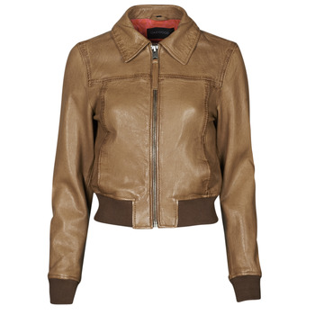 material Women Leather jackets / Imitation le Oakwood LENNOX Cognac