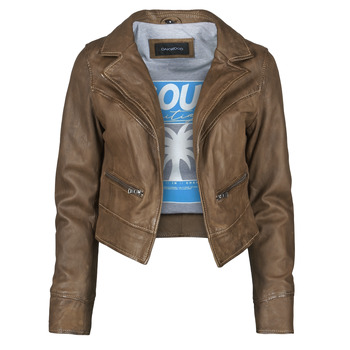 material Women Leather jackets / Imitation le Oakwood TRISH Brown