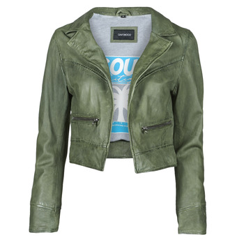material Women Leather jackets / Imitation le Oakwood TRISH Green