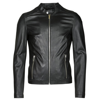 material Men Leather jackets / Imitation le Oakwood MARKER Black