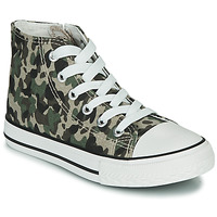 Shoes Children High top trainers Citrouille et Compagnie OUTIL Camouflage