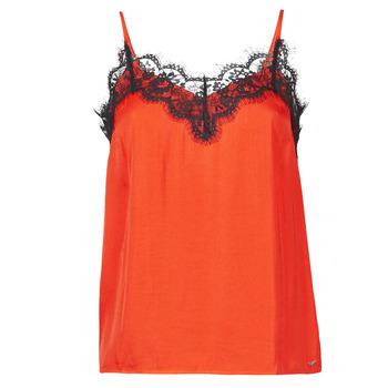 material Women Tops / Sleeveless T-shirts Les Petites Bombes AMY Orange