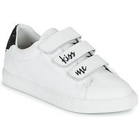 Shoes Women Low top trainers Bons baisers de Paname EDITH KISS ME White