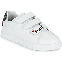 Shoes Women Low top trainers Bons baisers de Paname EDITH SWEET HEART White