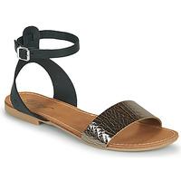 Shoes Women Sandals Betty London GIMY Black / Steel