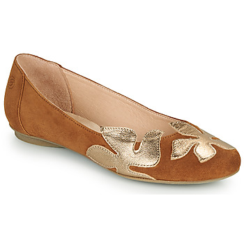 Shoes Women Ballerinas Betty London ERUNE Camel / Gold