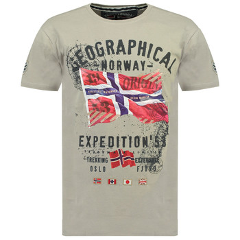 material Boy short-sleeved t-shirts Geographical Norway JITCHEN Grey