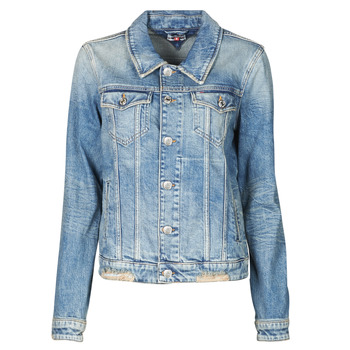 material Women Denim jackets Tommy Jeans REGULAR TRUCKER JACKET USDRG Blue