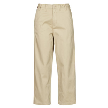 material Women chinos Tommy Jeans TJW HIGH RISE STRAIGHT Beige
