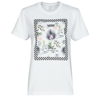 material Women short-sleeved t-shirts Vans BORDER FLORAL BF White