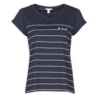 material Women short-sleeved t-shirts Esprit T-SHIRTS Blue