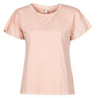 material Women short-sleeved t-shirts Esprit T-SHIRTS Pink