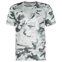 material Men short-sleeved t-shirts Nike DRY TEE LEG CAMO AOP Grey