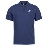 material Men short-sleeved polo shirts Nike NSSPE POLO MATCHUP PQ Marine / White