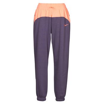 material Women Tracksuit bottoms Nike NSICN CLSH JOGGER MIX HR Violet / Pink