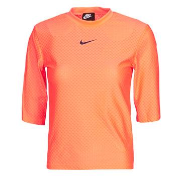 material Women short-sleeved t-shirts Nike NSICN CLSH TOP SS MESH Orange