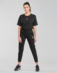 material Women Tracksuit bottoms Nike NSMLNESSNTL FLC MR JGGR Black / White